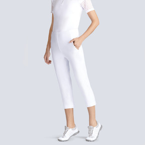 Tail Ladies Golf Allure Pull On Capri- White