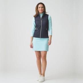 Daily Sports Madge Navy Blue Ladies Golf Skort 45 CM - Front Lifestyle