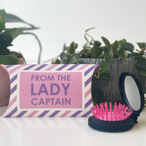 FREE Presentation Pillow Box with Every From the Lady Captain Mirror & Hair Brush