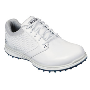 Skechers Ladies Go Golf Elite 3 Deluxe Waterproof Golf Shoes - White and Navy