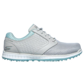 Skechers Ladies Go Golf Elite 3 Grand Waterproof Golf Shoes- Grey and Mint