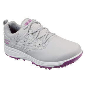 Skechers Ladies Go Golf Pro 2 Soft Spike Waterproof Golf Shoes - Grey and Purple