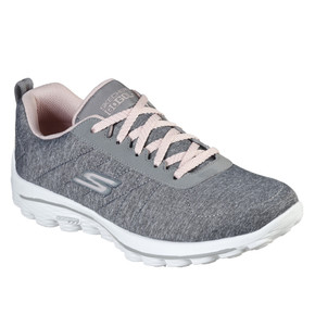 Skechers Ladies Go Golf Walk Sport Golf Shoes - Grey and Pink