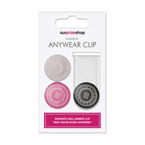 White Golf Ball Marker Anywear Set