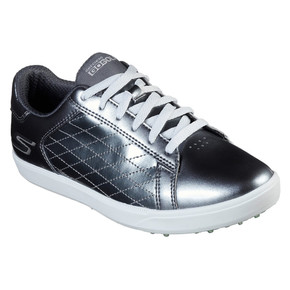 Skechers Ladies Go Golf Drive Shine Waterproof Golf Shoes- Pewter