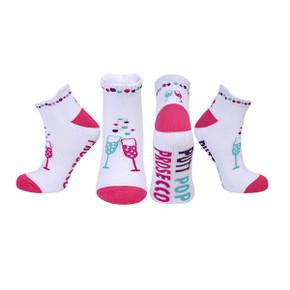 Pair Of Putt Pop Prosecco Ladies Golf Socks