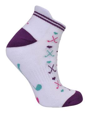 2 Pair Pack Of Multi Coloured Ladies Golf Socks