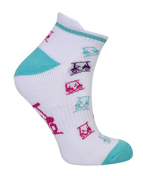 3 Pair Pack Of Multi Coloured Ladies Golf Socks