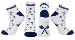 3 Pair Pack Of Navy Ladies Golf Socks