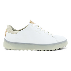 Ecco Ladies Golf Tray Golf Shoes- Bright White