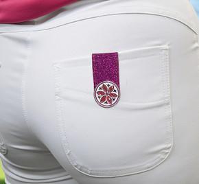 Pink  Glitter  Ball Marker Anywear Set