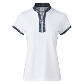 Daily Sports Raina Cap Sleeve Polo- White