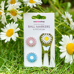 Daisy Golf Ball Markers and Pitchfork Pack