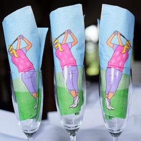 Lady Golfer Napkins Pack of 20