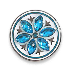 Aqua Crystal Flower Ball Marker