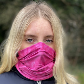 Lightweight Women's Golf Snood - Pink Feather Design