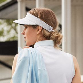 Daily Sports Ladies Caterina Telephone Wire Visor - White and Silver