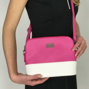 Lady Golfer Strap Golf Handbag- Pink and White