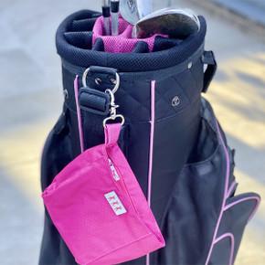 Lady Golfer Honeycomb Design Golf Handbag- Pink