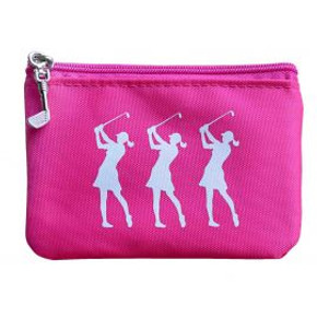 Coin & Card Golf Purse- Pink