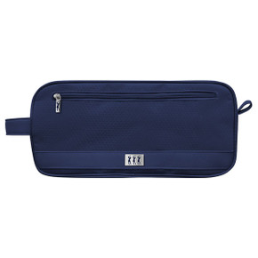 Lady Golfer Honeycomb Design Golf Shoe Bag- Navy