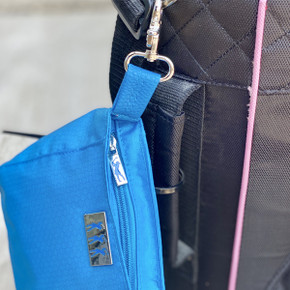 Lady Golfer Honeycomb Design Golf Handbag- Aqua