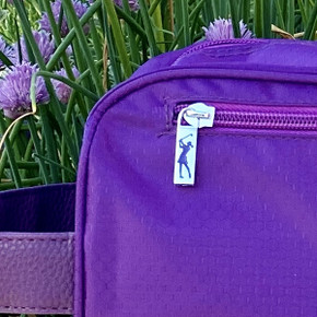 Lady Golfer Honeycomb Design Golf Shoe Bag- Purple