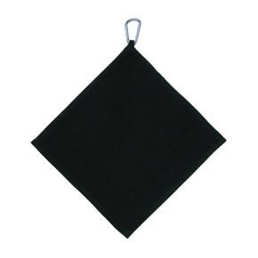 Golf Towel with Carabiner - Black