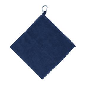 Golf Towel with Carabiner - Navy