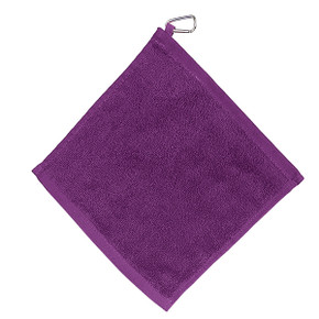 Golf Towel with Carabiner - Purple
