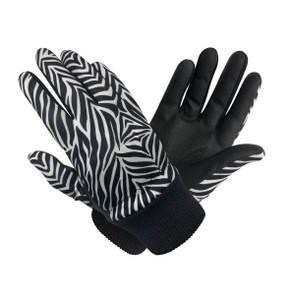 Ladies Golf Polar Stretch Pair of Winter Gloves - Zebra