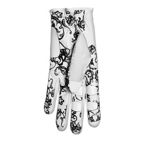 All Weather Ladies Golf Mesh Sun Glove- Black