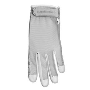 All Weather Ladies Golf Mesh Sun Glove- Grey