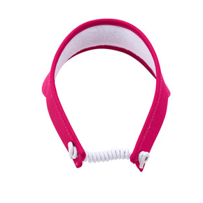 Ladies Golf Telephone Wire Visor with Ball Marker - Pink