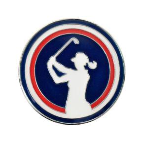 Ladies Lady Golfer Golf Ball Marker and Visor Clip Set