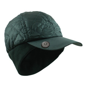 Ladies Quilted Winter Golf Cap with Ball Marker-Black