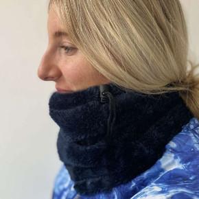 Luxury Super Soft Fleece Lined Womens Golf Snood - Navy