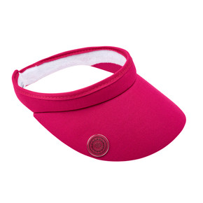 Ladies Golf Clip Visor with Ball Marker - Pink