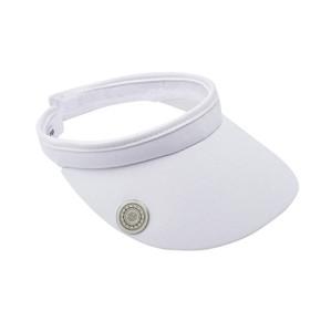 Ladies Golf Clip Visor with Ball Marker - White