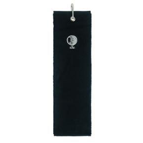Cotton Trifold Golf Towel -Black