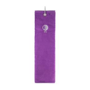 Cotton Trifold Golf Towel -Purple