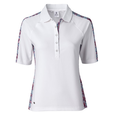 Daily Sports Paisley Half Sleeve Polo Shirt - White