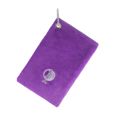 Bag Towel With Carabiner -Purple