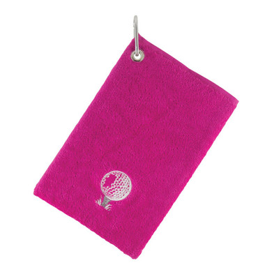 Bag Towel With Carabiner -Pink