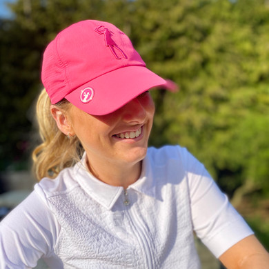 Lady Golfer Magnetic Soft Fabric Cap -Pink