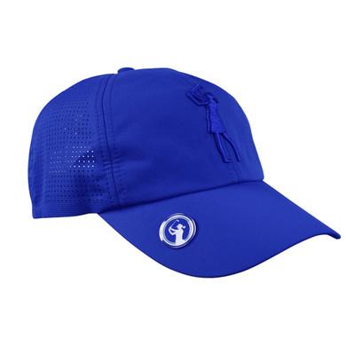 Lady Golfer Magnetic Soft Fabric Golf Cap -Blue