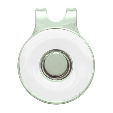 Ladies Golf Round Visor Clip- White