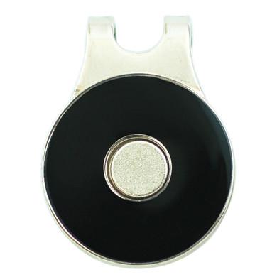 Ladies Golf Round Visor Clip- Black