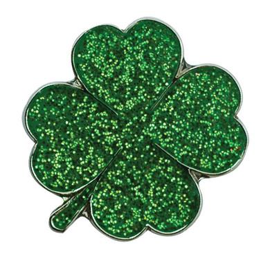 Four Leaf Clover Sparkly Green Golf Ball Marker