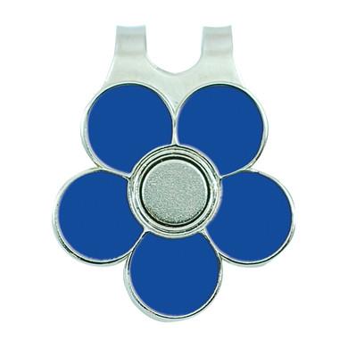 Ladies Golf Flower Visor Clip- Blue